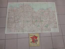 Carte Routiere La Bretagne-epoc-service Geographique De L´armee-pub Dunlop-shell--dans Son Etui - Cartes