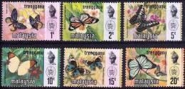 MALAISIE TRENGGANU Papillons, (YVERT N° 103/09) Neuf Sans Charniere **. MNH - Schmetterlinge