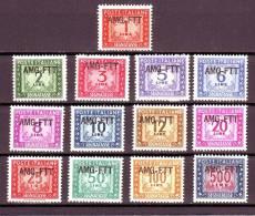 TRIESTE ZONA A SEGNATASSE 1949-54  S.54  NUOVO* 13 VALORI - 7. Trieste