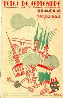 Programme Des Fetes De Limoux 1949- 28 Pages - Programs