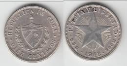 QUALITE **** CUBA - 10 CENTAVOS 1948 - ARGENT - SILVER **** EN ACHAT IMMEDIAT !!! - Cuba