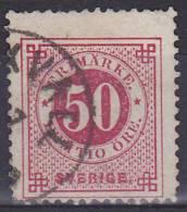 ZWEDEN - Michel - 1877 - Nr 25B (T/D 13/13 1/2) - Gest/Obl/Us - Oblitérés