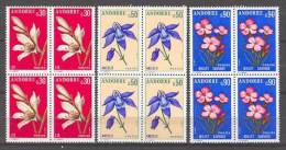 Andorra -Franc 1973 Flores Y=229-31 E=250-52 Bloque - Flora