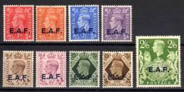 E.A.F. - East African Focres Set Of 9  - 1d To 2s6d - SGS1-S9 - MH - Somaliland (Protectorate ...-1959)