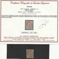 ITALY KINGDOM ITALIA REGNO 1879 RE UMBERTO I 30 CENT. USED ANNULLO NUMERALE USED BUONA CENTRATURA CERTIFICATO - Usati