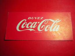 BUVARD   BUVEZ COCA COLA  MARQUE DEPOSEE