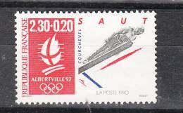 Francia   -   1990.  Salto dal trampolino.  Ski  jumping