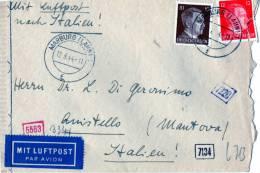 BUSTA POSTALE-SPEDITA DA MARBURGO A  QUISTELLO-MANTOVA CON AFFRANCATURA STORICA - Briefe U. Dokumente