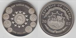 **** LIBERIA - 5 DOLLARS 2002 - FIVE DOLLARS 2002 - NEW VATICAN COINS **** EN ACHAT IMMEDIAT !!! - Liberia