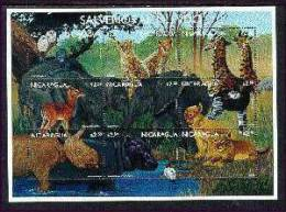 NICARAGUA   2209 MINT NEVER HINGED MINI SHEET OF WILDLIFE & ANIMALS ; ENDANGERED SPECIES - Stamps
