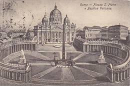 Italy Roma Rome Piazza San Pietro e Basilica Vaticana 1907