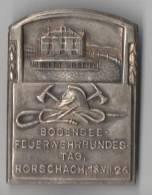 Altes Schild , Bodensee Feuerwehr Bundestag In Rorschach ,1926 , Abzeichen , Emblem !!! - Ferronnerie