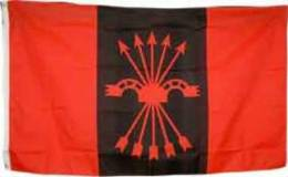 Bandera Falange. FE-JONS. España. - Banderas