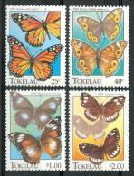 1995 Tokelau Fauna  Farfalle Butterflies Schmetterlinge Papillons Set MNH** Te187 - Tokelau