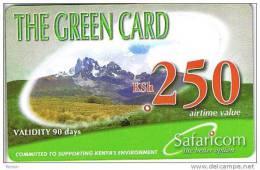 Kenya, KSh 250, The Green Card, Expiry 02/11/2008, 2 Scans. - Kenya