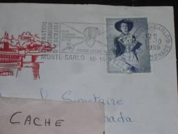 MONACO YT 1919 SUR LETTRE - PEINTRE POETE AUTOMATE - FLAMME FEDERATION ESCRIME EPEE - ENVELOPPE ILLUSTREE PALAIS - - Marcophilie