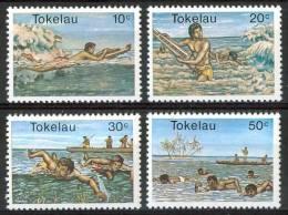 1980 Tokelau Sport Acquatici Set MNH** Te195 - Tokelau