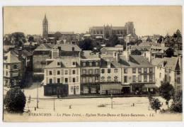 AVRANCHES--La Place Littré--Eglise N-Dame Et Saint Saturnin (magasins)n° 20 éd LL - Avranches