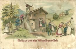 Allemagne  CPA Humour Humor Grusse Von Der Alteweibermuhle Tripstril - Humour