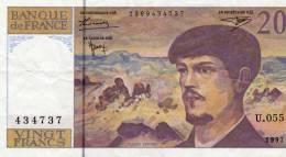 20  -  Banque De France  -  U 055 - 434737 - Claude Debussy - - 1962-1997 ''Francs''