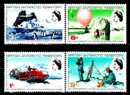 Antarctique Britannique 21 / 24 25e Anniversaire Des Services Scientifiques - Territoire Antarctique Britannique  (BAT)
