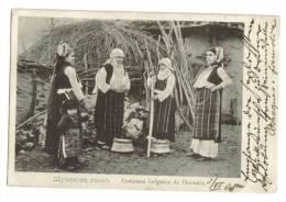 Yougoslavie Surcharge Sur Cpa Costume Choumla - Yougoslavie
