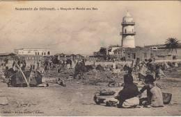 Souvenir De Djibouti - Mosquée Et Marché Aux Bois, Animé - Djibouti