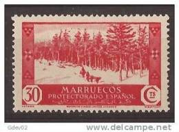 MA153-LA811TVA.Maroc.Mar Occo.MARRUECOS ESPAÑOL VISTAS Y PAISAJES.bosque .1935/7.(Ed 153*) Con Charnela MAGNIFICO.RARO - Sin Clasificación