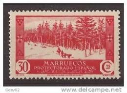 MA153-LA811TVSC.Maroc.Mar Occo.MARRUECOS ESPAÑOL VISTAS Y PAISAJES.bosque .1935/7.(Ed 153*) Con Charnela MAGNIFICO.RARO - Planten