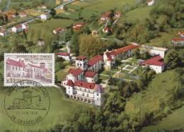 Carte-Maximum FRANCE  N° Yvert 1645 (Abbaye De CHANCELADE) Obl Sp Ill 1er Jour (Ed PR) - Maximumkarten