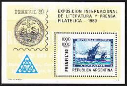 Argentina 1974. Press. Philatelistische Zeitschriften-Ausstellung PRENFIL '74 (B.0042) - Argentine