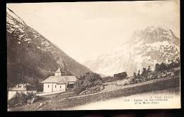 74 VALLORCINE / Eglise Et Le Mont Blanc / - France