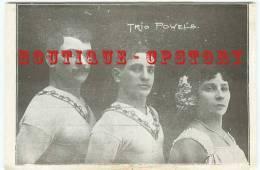 RARE < CIRCUS - Trio Powels Voltige - Voltigeur Au Cirque - Dos Scané - Circus