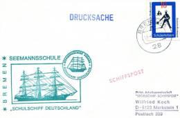 """Germany(West)-Maritime Cover W/ German Sea Post """" ´Schulschiff Deutschland´ Sailor's School, Bremen 19.3.1971"""" Postmark - BRD"""