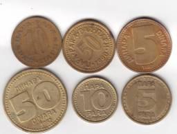 Joegoslavië   Lot Oncleaned UNC / A UNC  Coins  50 - 1992 / 1990 - 5 - 1990 / 1997 - 10 - 1974 / 1998   (23) - Yougoslavie