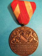 Club De Natation De Strasbourg/ Schwimmerein/Médaille Argent /Strassburge/1901 Et 1909    D124 - Natación