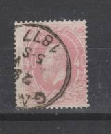 COB 34 Oblitéré Gand - 1869-1883 Léopold II