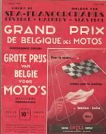 Programme Grand Prix Moto Spa Francorchamps 1951 FN Norton Gilera MV BMW Velocette Bsa AJS Triumph Gillet Sarolea TWN - Programmes