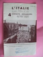 ITALIE - GUIDE - Italie Et Ses Villes D´art - 4 Circuits Organisés En Autocar Pullman - Tourisme, Voyages