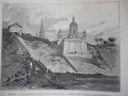 Rouen , Le Monument De Jeanne D'Arc A Bon Secours , Gravure Dété Dessin Adeline 1892 - Documenti Storici