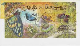 Australia 2003 Bugs And Butterflies MS - FDC