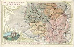 CHROMO CHOCOLAT AIGUEBELLE   LES DEPARTEMENTS  CREUSE - Aiguebelle