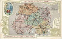 CHROMO CHOCOLAT AIGUEBELLE   LES DEPARTEMENTS   LA MARNE - Aiguebelle