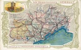 CHROMO CHOCOLAT AIGUEBELLE   LES DEPARTEMENTS   HERAULT - Aiguebelle
