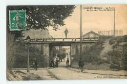 ERMONT - Le Pont De Cernay - Rue De Sannois Animée - Edition Baron - 2 Scans - Ermont