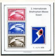 Bundesrepublik Deutschland - Deutschland - Allemagne - RFA -  Gezähnter Vignettenblock Mit Zeppelinmarken, Essen 1978 - Erinnofilia