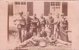 """21683 Carte Photo  Belgique, -soldat Guerre - Groupe  """"encore 145 """""""