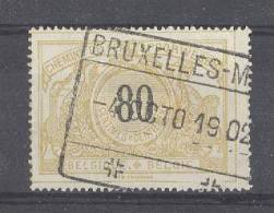 """BELGIE - OBP Nr TR 24 - Spoorwegen/Chemins De Fer (ref. 1426) - Cachet """"BRUXELLES-MIDI"""" - Chemins De Fer"""