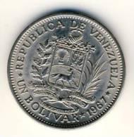 1967 Venezuela 1 Bolivar In BU Condition, Nice Coin - Venezuela