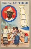Afrique- Africa -ref A671-colonies Francaises - Le Togo  -edite Par Les Produits Chimiques Lion Noir- Carte Bon Etat  - - Togo